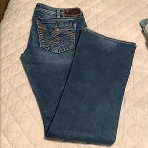 Silver jeans, Pioneer style. 30 waist, 33 length